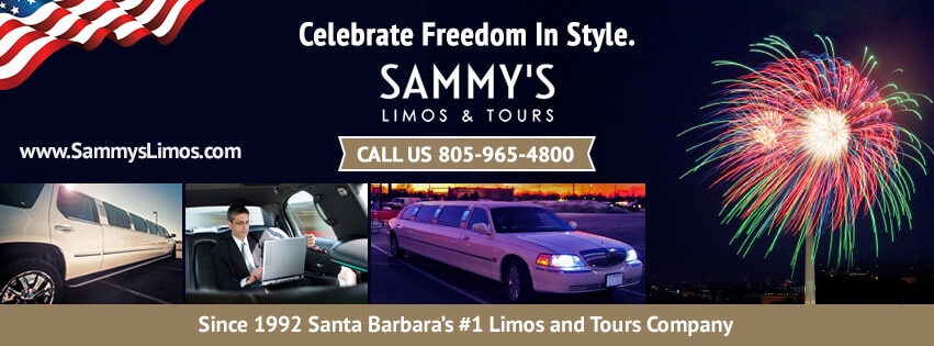 Celebrate 4th of July in Santa Barbara with Sammy's Limos!